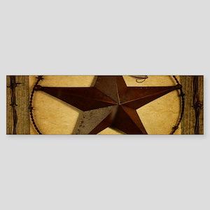 barn wood texas star western fashion Bumper Sticke