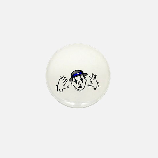 I Punched a Mime Today Mini Button