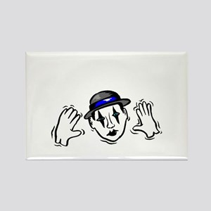 I Punched a Mime Today Rectangle Magnet