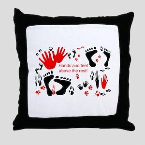 Hands and Feet Throw Pillow