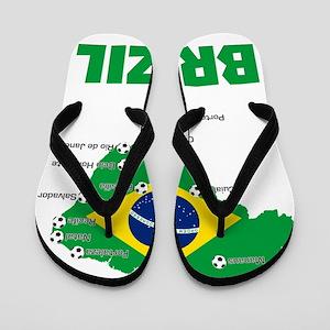 Brazil Soccer 2014 Flip Flops
