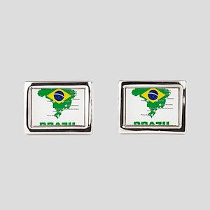 Brazil Soccer 2014 Rectangular Cufflinks