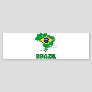 Brazil Soccer 2014 Bumper Sticker
