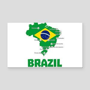 Brazil Soccer 2014 Rectangle Car Magnet