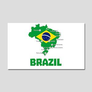Brazil Soccer 2014 Car Magnet 20 x 12