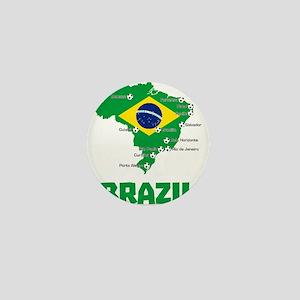 Brazil Soccer 2014 Mini Button