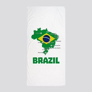 Brazil Soccer 2014 Beach Towel