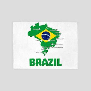 Brazil Soccer 2014 5'x7'Area Rug