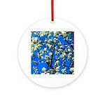 Snow Flowers Ornament (Round)