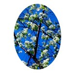 Snow Flowers Ornament (Oval)