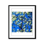 Snow Flowers Framed Panel Print