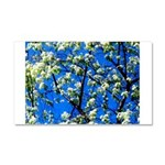 Snow Flowers Car Magnet 20 x 12