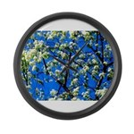 Snow Flowers Large Wall Clock
