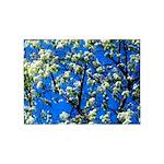 Snow Flowers 5'x7'Area Rug