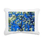 Snow Flowers Rectangular Canvas Pillow