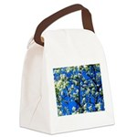Snow Flowers Canvas Lunch Bag