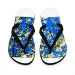 Snow Flowers Flip Flops