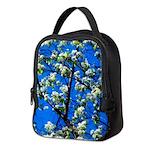 Snow Flowers Neoprene Lunch Bag