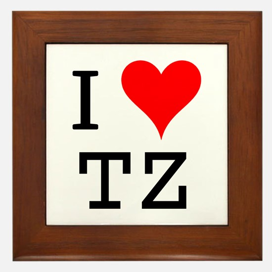 I Love TZ Framed Tile