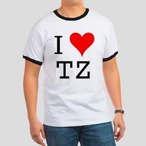 I Love TZ Ringer T