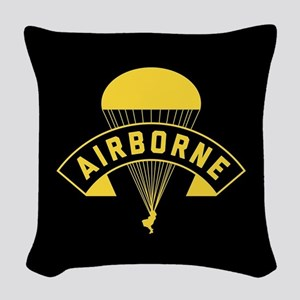US Army Airborne Woven Throw Pillow