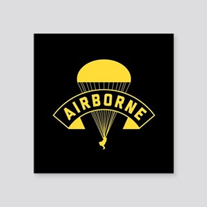 "US Army Airborne Square Sticker 3"" x 3"""