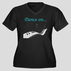 Dance On Women's Plus Size V-Neck Dark T-Shirt