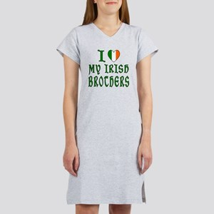I Love My Irish Brothers Women's Nightshirt