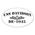 USS DAVIDSON Sticker (Oval)