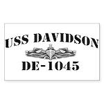 USS DAVIDSON Sticker (Rectangle)