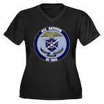 USS DAVIDSON Women's Plus Size V-Neck Dark T-Shirt
