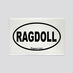 Ragdoll Oval Rectangle Magnet