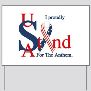 USA Stand for Anthem Yard Sign