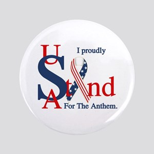"""Usa Stand For Anthem 3.5"""" Button"""