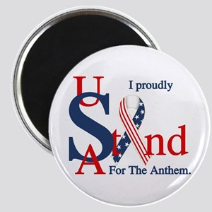 Usa Stand For Anthem Magnets