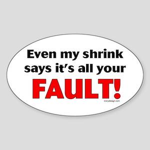 My Shrink! Oval Sticker