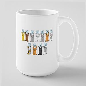 Welcome Home Cats Mugs