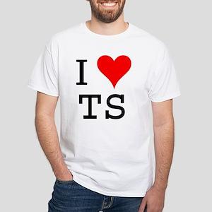 I Love TS Premium White T-Shirt