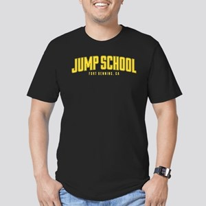 US Army Jump School Men's Fitted T-Shirt (dark)