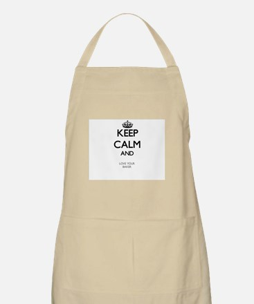 Keep Calm and Love your Baker Apron