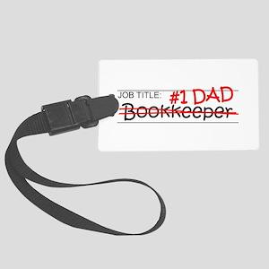Job Dad Bookkeeper Large Luggage Tag