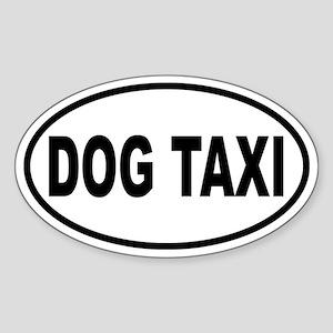 Dog Taxi Oval Sticker