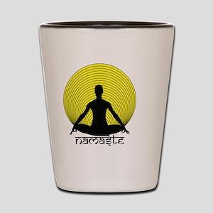 Namaste-Yellow-Br Shot Glass