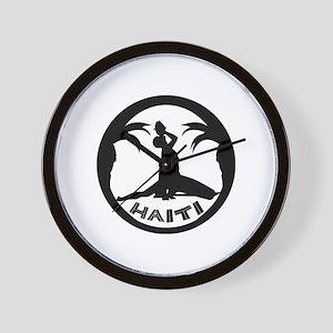 Haiti-Call-BW Wall Clock