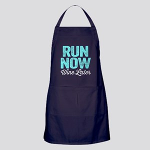 Run Now Wine Later Apron (dark)