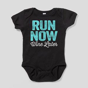 Run Now Wine Later Baby Bodysuit