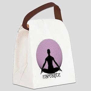 Namaste-purp Canvas Lunch Bag