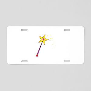 Magic Wand Aluminum License Plate