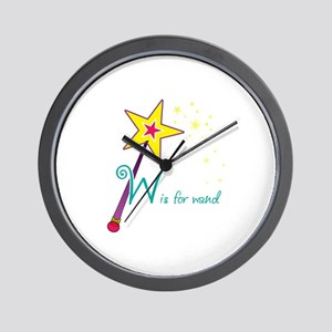 W is for wand Wall Clock