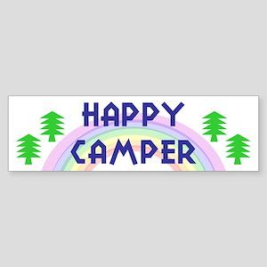 """""""Happy Camper"""" Bumper Sticker"""